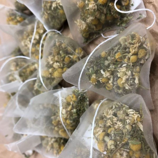hemp and chamomile tea